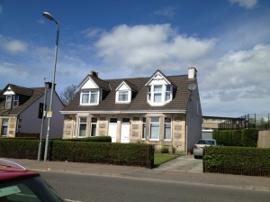 This is the house in Blantyre, Scotland where my father was born