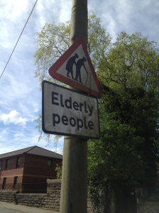 The sign across the road from my cousin's B&B