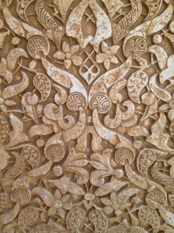 Wall detail at Alhambra