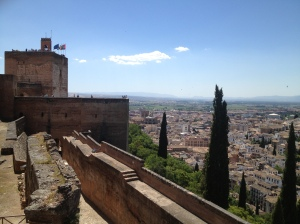 Views of Granada from Alhambra