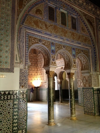 Ornate walls within Alcazar