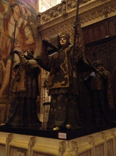 The final resting place of Christopher Columbus within the Cathedral at Seville