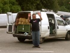 Snail vendor, road to Tarifa