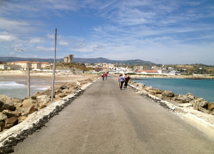 Looking back toward Tarifa, the Atlantic to the left, the Mediterranean to the right