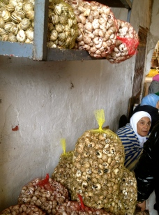 Snails for sale, markets at Tangiers