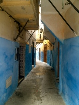 Winding streets of the Medina, Tangiers