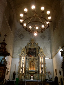 The altar of a historic church in Ronda