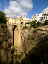 The 'new bridge' of Ronda, which took 50 builders 42 years to complete.