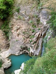 Waterfall beneath the bridge, Ronda