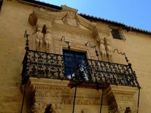 An ornate balcony in Ronda