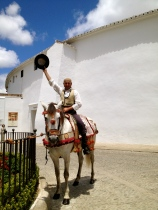 A cabellero in front of the bullring, Ronda