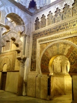 Muslim design within the Mezquita of Cordoba.