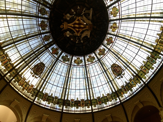 The ceiling of the post office in Valencia.
