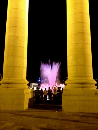 Tourists enjoying the Magic Fountain, Barcelona