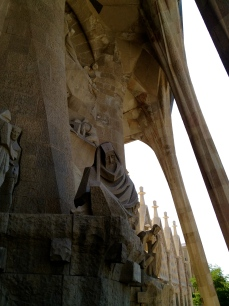 Another contemplative statue that dominates my view as I exit the Basilica of the Sagrada Familia.