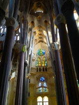 Gaudi described the main hall of the Basilica of the Sagrada Familia as being like a forest of columns. It's a place where traditional stained glass mingles with more revolutionary design.