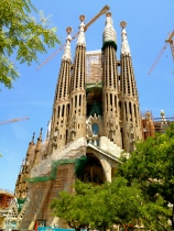 Commenced in 1882, the Basilica of the Sagrada Familia is still under construction in 2013. Its estimated finish date is around 2026.