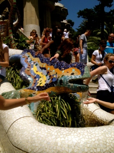 This iconic Gaudi lizard has inspired an industry of fridge magnets and t-shirts in Barcelona.