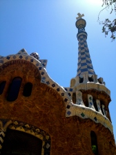 One of a couple of Gaudi buildings at the Park Guell.