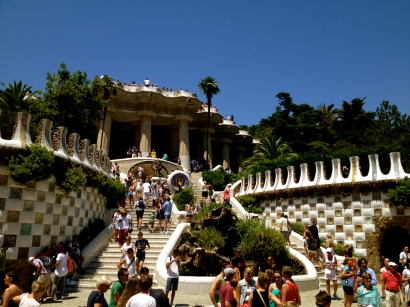 Park Guell, named after one of Gaudi's patrons, is a popular tourist attraction in Barcelona.