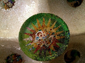 Another colourful mosaic by Gaudi at the Park Guell