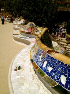 Mosaics have been used extensively by Guadi at the Park Guell.