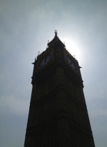Managed to snap this picture of Big Ben from the back of a moving double-decker bus. A very lucky get!