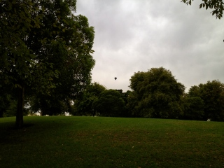 Noticed this balloon while stretching after a run and couldn't resist the photo opp!