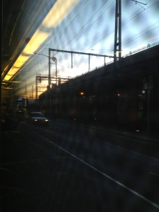 Took this one through the grated window of a tram in Flinders Street, Melbourne.