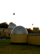 A new addition to the collection this week, balloons rising over the Royal Botanical Gardens in Melbourne.