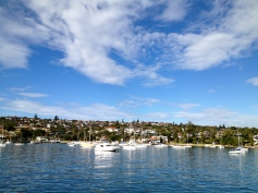 So still and serene, yet this was taken from the back of a moving ferry as we arrived into Watsons Bay.