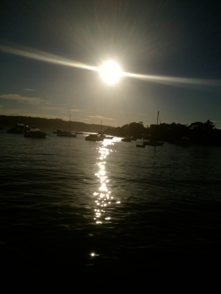 Playing with the sunlight in Watsons Bay.