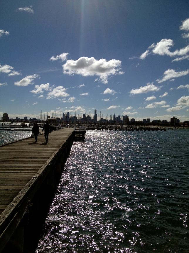 Melbourne is known for 'four seasons in one day' and this photo helps demonstrate that. This blue sky scene from the St Kilda pier was taken on the same day as all the other photos in this gallery!