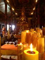 Inside Wat Phnom, the place of worship on top of the hill which marks the site where Phnom Penh was founded.