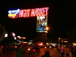 Once a simple collection of thatched huts, the Night Market in Siem Reap is now better recognised for its neon lights.