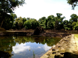 Neak Pean is an ancient bathing area which remains remarkably intact to this day.