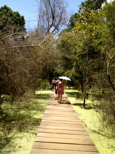 New boardwalks and walkways like this one at Neak Pean have become more common around the Angkor complex as authorities seek to enable access through the wet season and to protect the ancient stones from wear.