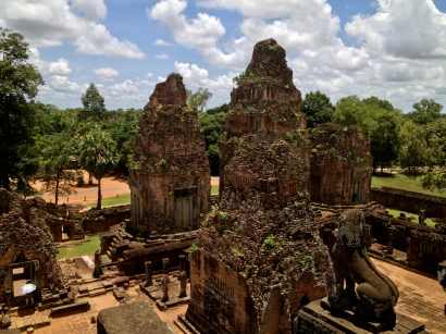 The view across the Prea Rup temple complex from the top of the structure.