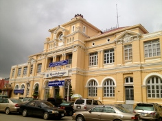 The Post Office in downtown Phnom Penh is a well-preserved example of French colonial architecture from the early 1900s.