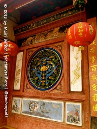 Hopefully this gallery will provide some beauty, in contrast to some of the ugliness that's covered in this blog. These photos were all taken at the Xie Tian Gong temple in Phnom Penh. This image is one of the front walls of this Chinese temple that was built by Hokkien settlers in the early 1900s.