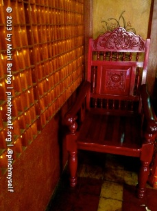 A serene place to sit in the back corner of the Xie Tian Gong temple, Phnom Penh.