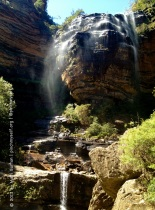 If you spot the man in this picture, it gives some sense of the scale of the Upper Wentworth Falls.