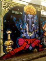 This one, depicting the Hindu God Ganesh, adds a multicultural element to street art.