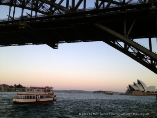 A sunset cruise with spectacular views of Sydney Harbour.