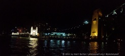 Luna Park and the Sydney Harbour Bridge reflecting on the harbour.
