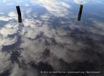 This reflective picture seemed like the perfect image for a blog about reflecting on the year that's just been and hopes for the year ahead. I love photos that cause you to do a double take about what you're actually seeing. These are two timber marker poles in the Yarra River, which is reflecting a lovely blue sky with puffy white clouds. Once you see it, you will notice the ripples and leaves on the surface of the water. Magic. The pictures in this gallery were taken on New Year's Eve in Melbourne.