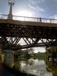 Morning views of the MacRobertson Bridge on the Yarra River, Melbourne.