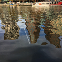 Southbank skyline reflected on the Yarra River