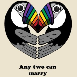 "Marriage Equality Twocans. Poster Heroes: ""Rights in Love"" - 2016"